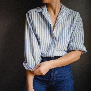 Vintage 1970's Strip Button Up Shirt